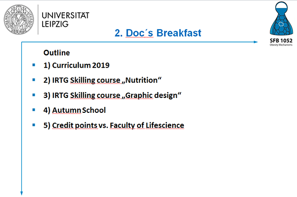 Talking points of the doctoral breakfast